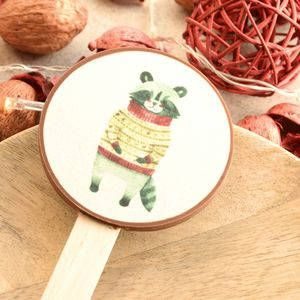 Christmas Raccoon Chocolate Lolly