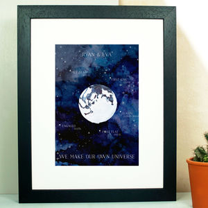 Personalised Universe Couple Print - posters & prints