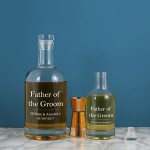 Personalised Father Of The Groom Glass Decanter