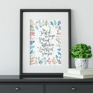 'Be Joyful In Hope' Print - shop by subject