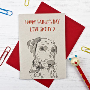 Dalmatian Father's Day Card