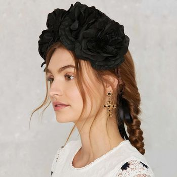 Ophelia Oversized Floral Crown Headband