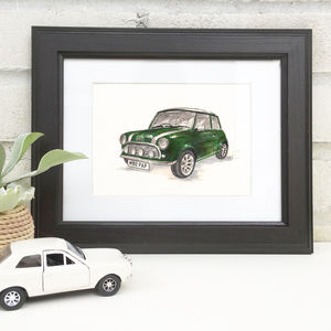 Personalised Hand Drawn Car Illustration - posters & prints