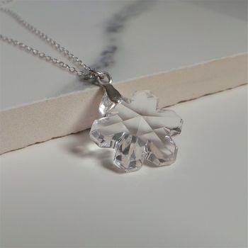 Snowflake Sterling Silver Christmas Necklace