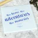 'New Adventures, New Memories' New Home Coaster