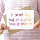 'A Great Big Hug' Card