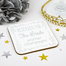 Personalised Bride Wedding Coaster