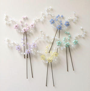 Pastel Floral Hairpin - tiaras & hair combs