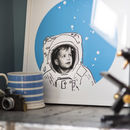 'Space Kid' Personalised Childrens Portrait