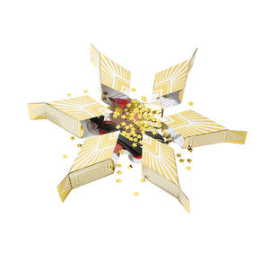 Gold Star Sharing Party Cracker - confetti, petals & sparklers