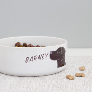 Dog Bowl Personalised - more