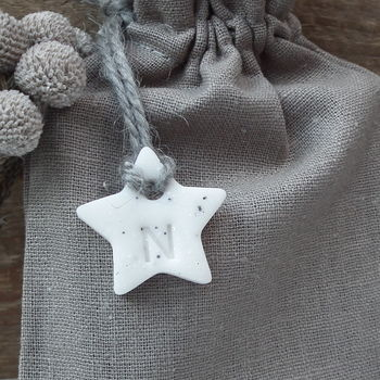 Personalised Keepsake 'Marble' Star Gift Tag Decoration