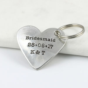 Bridesmaid Gift Heart Keyring