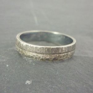 Oxidised Sterling Silver Ring 4mm - rings
