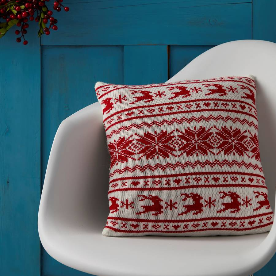 christmas cushion by the christmas home notonthehighstreet.com