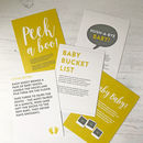 Baby Shower Game Cards
