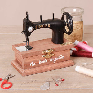 Personalised Vintage Singer Sewing Storage Box