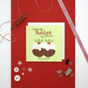 Christmas Pudding Christmas Card - cards & wrap