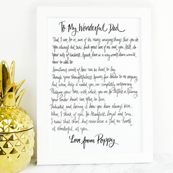 Personalised Dad Poem Gift