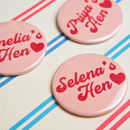 Retro Hen Party Badges