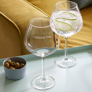 Personalised 'Parenting Life' Goblet Glass - view all new