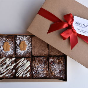 Christmas Brownie Selection Box - cakes & sweet treats