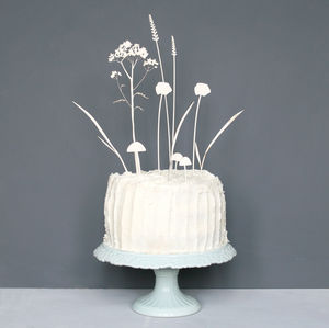 Summer Meadow Scene Cake Topper - table decorations