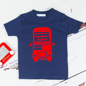 Personalised London Bus Childrens T Shirt - t-shirts & tops