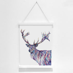 Stag Pencil Illustration Fine Art Print