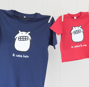 Father And Child T Shirt Set - clothing