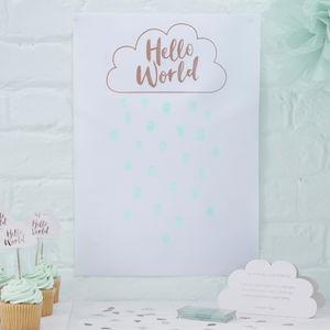 Rose Gold Foiled Baby Shower Finger Print Guestbook