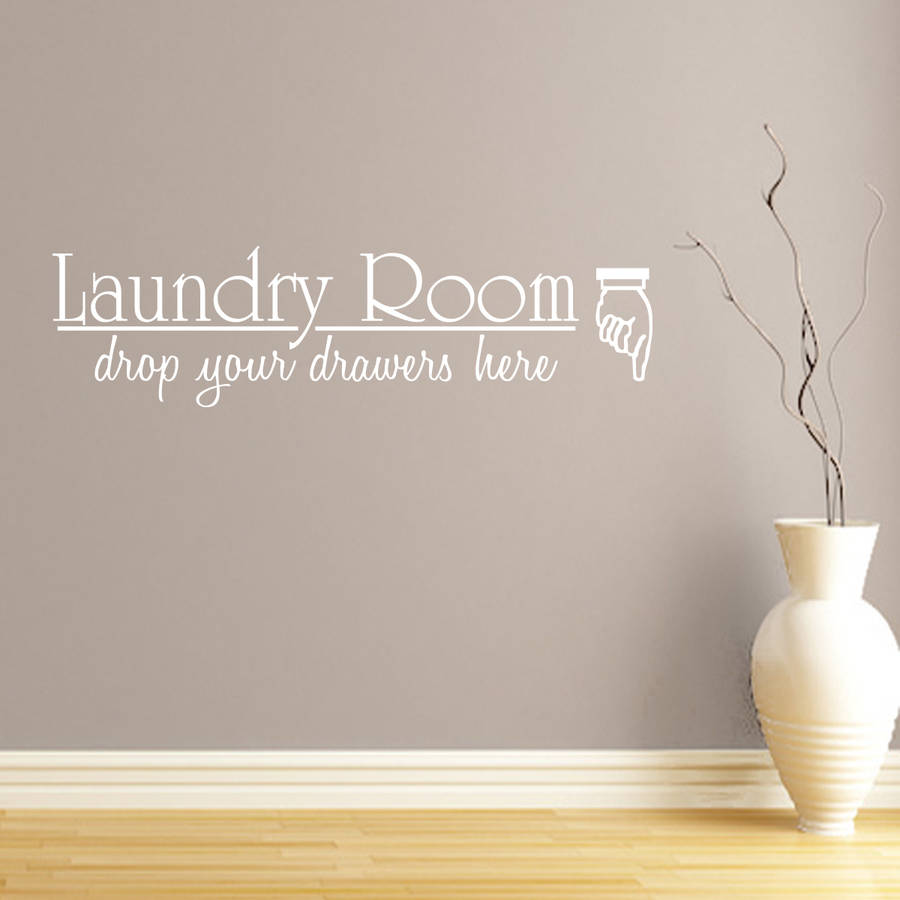 Laundry Room Quote Wall Sticker Part 7