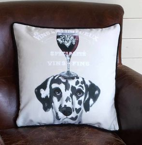 Dalmatian Cushion, Dog Au Vin Wine Gift - what's new