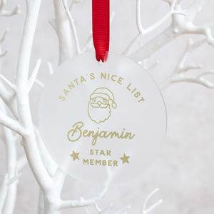 Personalised Santa's Nice List Christmas Keepsake - personalised