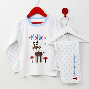 Personalised Christmas Reindeer Pyjamas - christmas eve