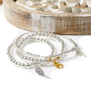 Angel Of Protection Stack Bracelets - bracelets & bangles
