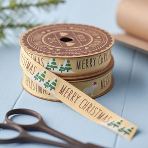 Merry Christmas Craft Ribbon - finishing touches