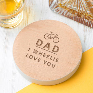 Personalised 'I Wheelie Love You' Cycling Pun - gifts for cyclists