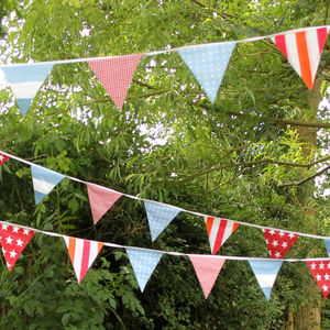 Summer Festival Retro Cotton Bunting - decorative accessories