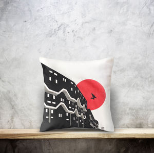 Brixton London Cotton Cushion Cover. Double Side Print