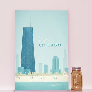 'Visit Chicago' Travel Poster