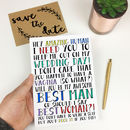 Funny 'Will You Be My Best Woman?' Card