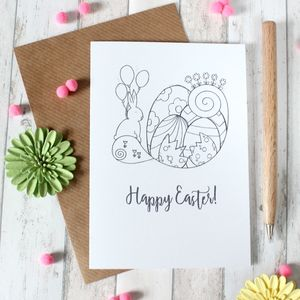 Personalised Easter Card, Illustrated Easter Card