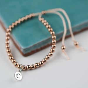 Personalised Rose Gold Friendship Bracelet - bracelets & bangles