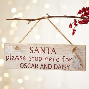 Personalised Santa Please Stop Here For… Sign - sale