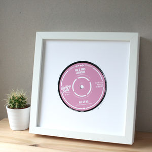 Personalised Wedding Song Record Label Print - 100 best wedding prints