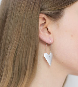 Long Heart Earrings - earrings