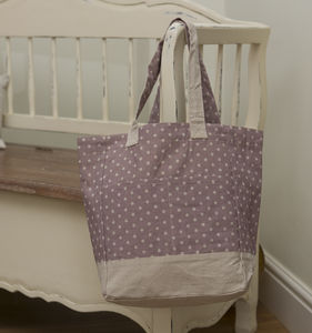 Dusty Pink Spot Bag - baby changing