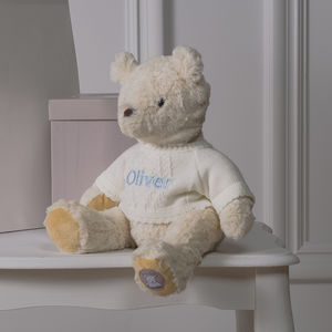 Personalised Christening Bear Soft Toy