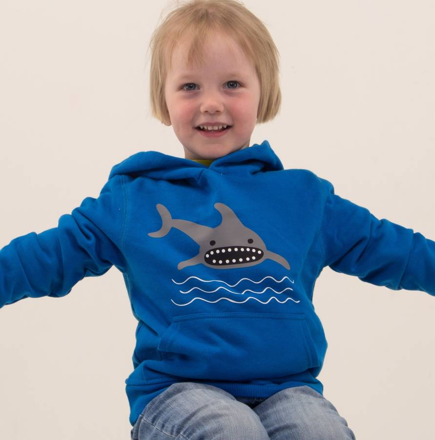 Organic Cotton Blue Shark Hoody